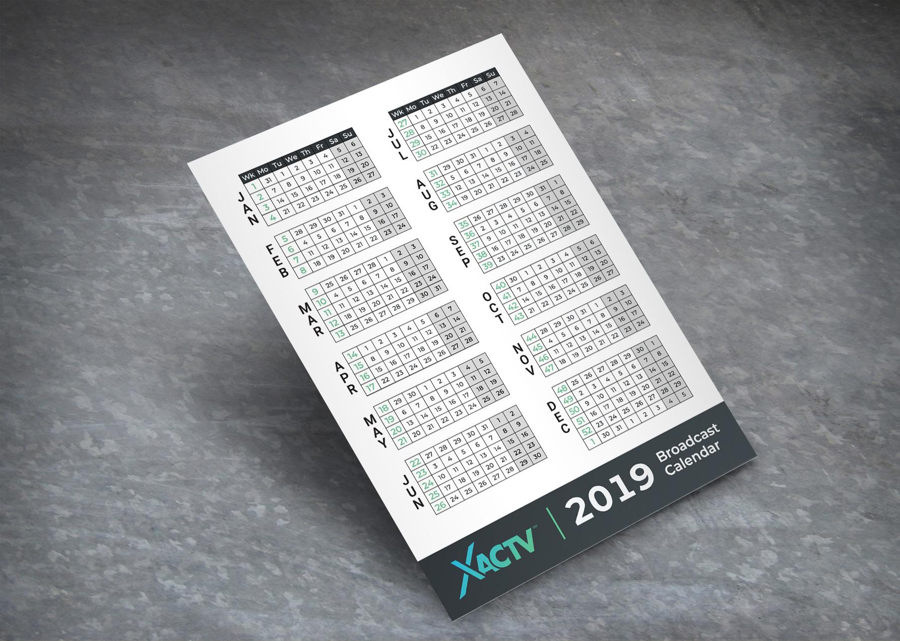 XACTV 2019 Media Calendar